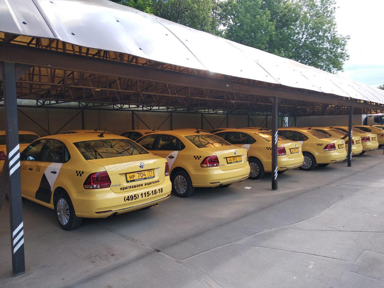 Водители такси.На новые volkswagen polo 2018 года